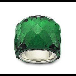 Swarovski green Nirvana ring